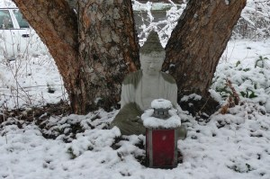 buddha in snow